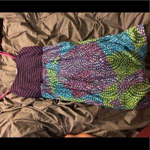 multicolored dress